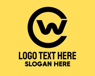 Ed - Corporate C & W Monogram logo design