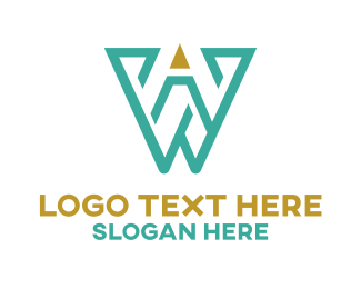Letter W - Pencil Letter W logo design