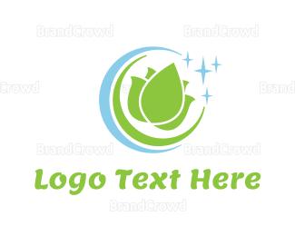 Dry Cleaner - Lotus Circle logo design