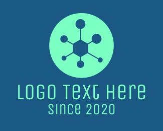 Microscopic - Virus Science Laboratory logo design