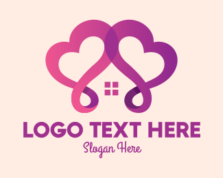 Caregiver - Purple Lovely Home logo design