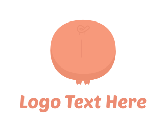 Farm - Pink Pig Tail logo design