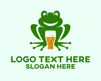 Brewer - Frog Beer Pub  logo design