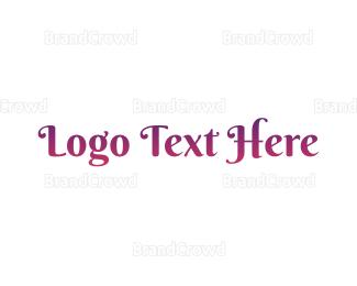 Text - Princess Purple Text logo design