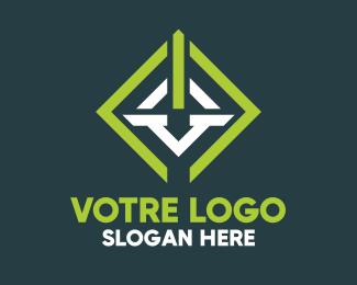Construction Geometric Construction Company logo design