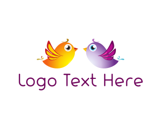 Wedding - Bird Couple logo design