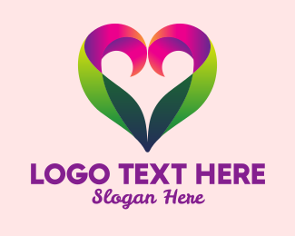 Dating Chat - Modern Colorful Heart logo design
