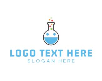 Biotech - Happy Lab logo design
