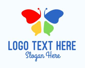 Creativity - Multicolor Beauty Butterfly  logo design