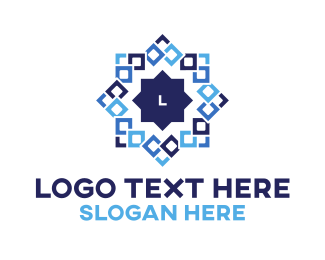 Arabic - Blue Stylish Arabic Star logo design