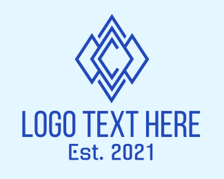 Typography - Diamond Letter C logo design