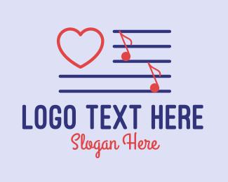 Song - Love Song Music logo design