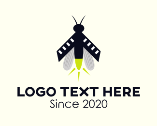 Mosquito - Firefly Insect logo design