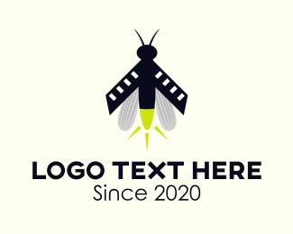 Dragonfly - Lightning Bug logo design