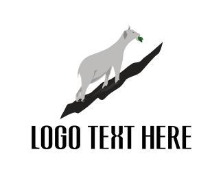 Eating - White Goat logo design