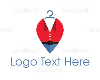 Dry Cleaner - Fashion Hanger logo design