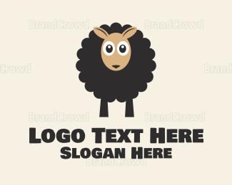 Lamb - Black Sheep logo design