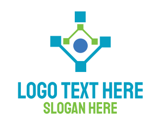 Web Development - Human Network Technology logo design