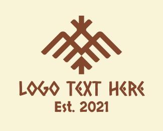 Animal - Ethnic Tribal Bird logo design