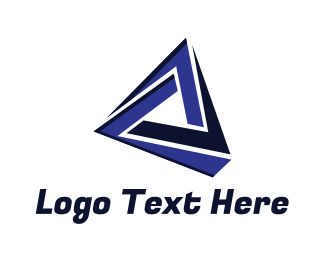 Blue Triangle - Tech Triangle Gaming logo design