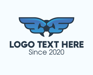 Fc - Soccer League Wings logo design