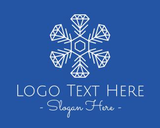 Fashion - Winter Snowflake Diamond Fashion logo design