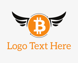 Coin - Bitcoin Wings logo design