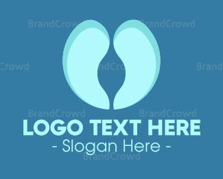 Respirology - Blue Lungs logo design