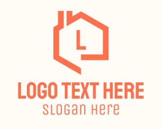 Realtor - Orange Home Realtor Letter logo design