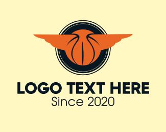 Fiba - Basketball Wings Emblem  logo design