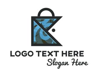 Shopping Bag - Fish Bag logo design