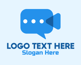 Production Studio - Video Camera Chat  logo design