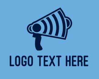 Loud - Wifi Megaphone logo design