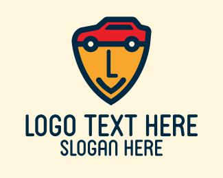 Car Face - Car Security Lettermark logo design