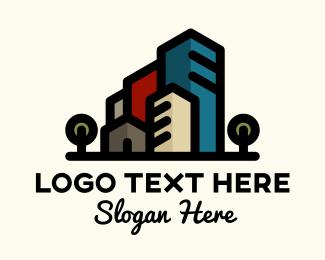 Room - House & Buildings logo design