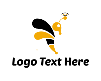 Antenna - Wasp Signal logo design