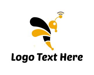 Wireless - Wasp Signal logo design