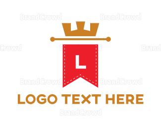 Lettermark - Crown Banner Lettermark  logo design