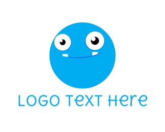 Kids - Cute Blue Face logo design