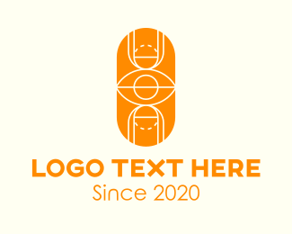 Basketball Court - Orange Basketball Court logo design