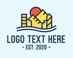 Town - Urban City Construction logo design