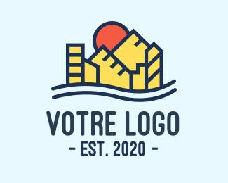Construction Urban City Construction logo design