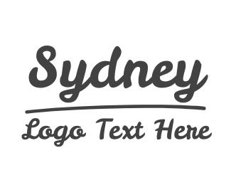 Showroom - Sydney Text Font logo design