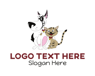 Smiling - Happy Pets logo design