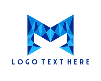Crystal - Crystal Letter M logo design