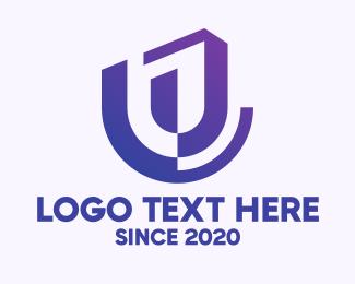Letter U - Abstract Letter U logo design