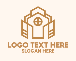 Townhouse - Abstract Church Property  logo design
