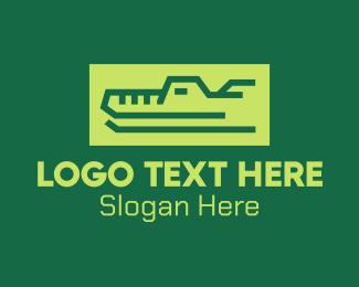 Gator - Green Wild Crocodile logo design