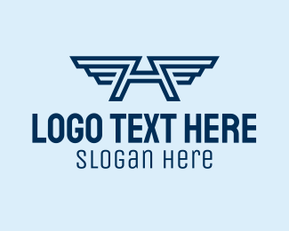 Militia - Air Force Wings Letter A  logo design
