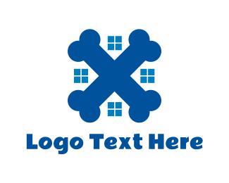 Fossil - Blue Pet Home logo design